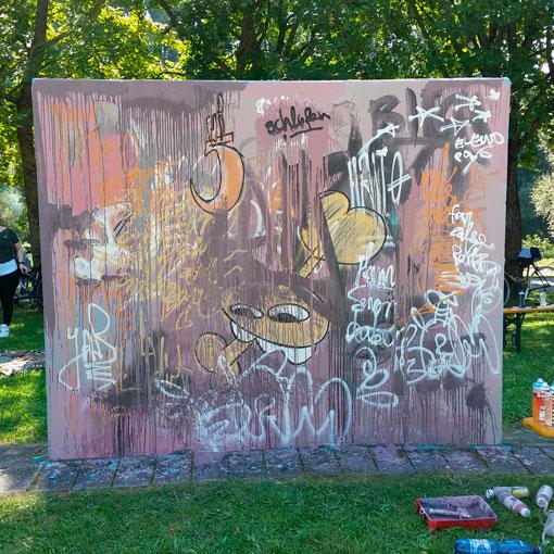 Giraffe - Wandgestaltung 24h galerie Regensburg - Sigurd Roscher 2016