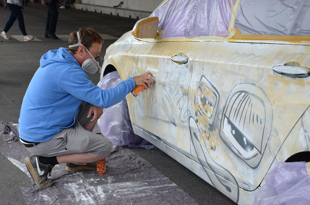 Sigurd Roscher live painting - Mein Tag bei BMW 2016 - 30 jahre BMW Werk Regensburg
