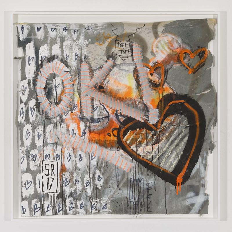 """Ausstellung """"Die besten Drogen sind aus Regenbogen"""" von Sigurd Roscher in der Galerie konstatin b in Regensburg 2017"""