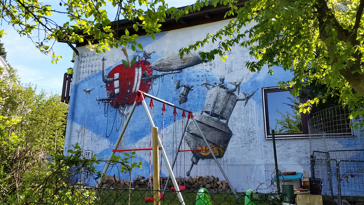 Mural Totale ILoveBBQ - apple space port
