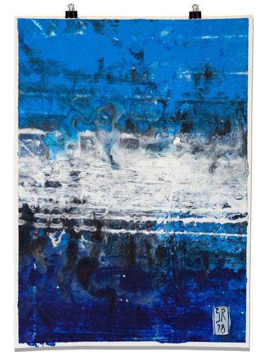 Trockungsstudie Teil 3 mixed media auf Papier 50 cm x 70 cm Sigurd Roscher 2018