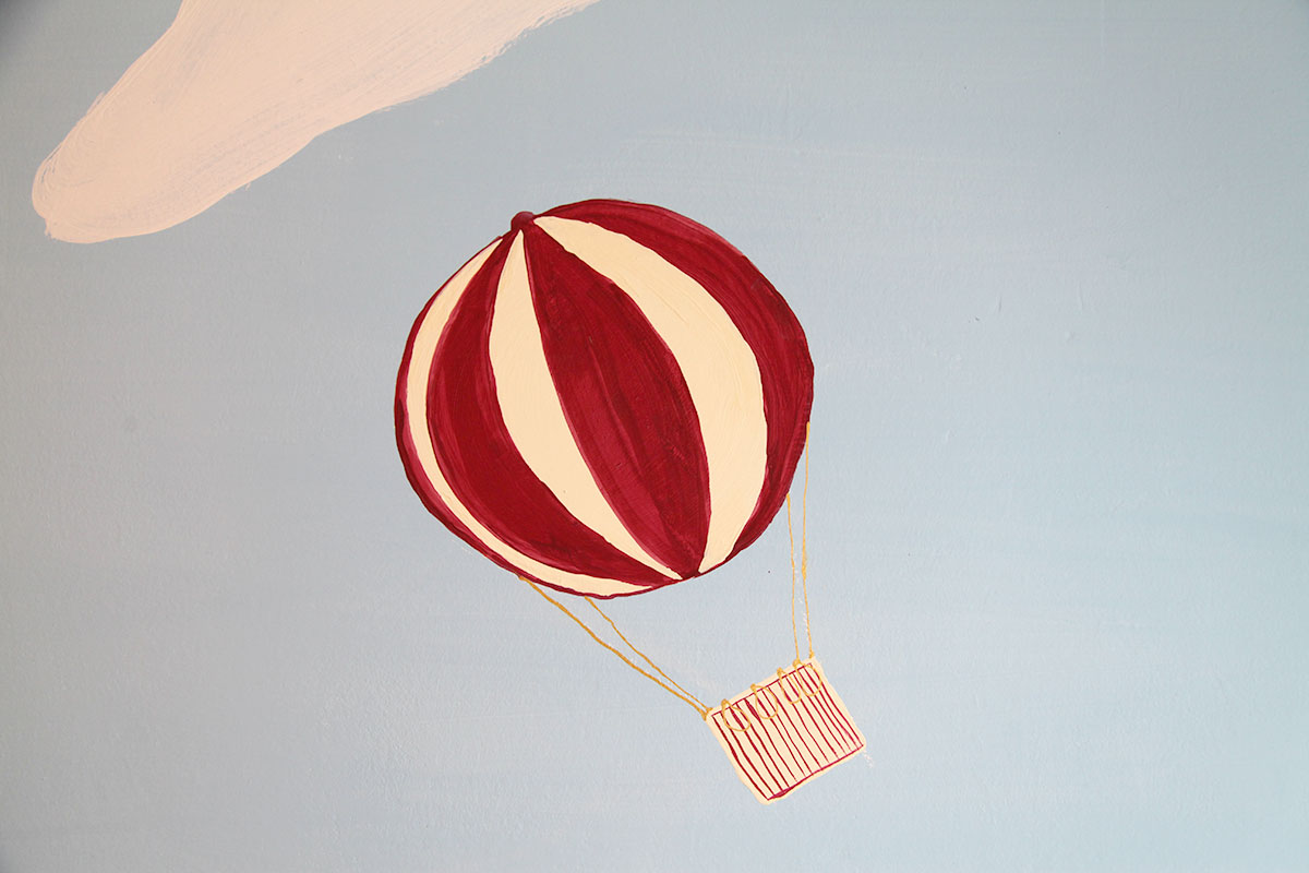 Heissluftballon Kinderzimmer Wnadgestaltung