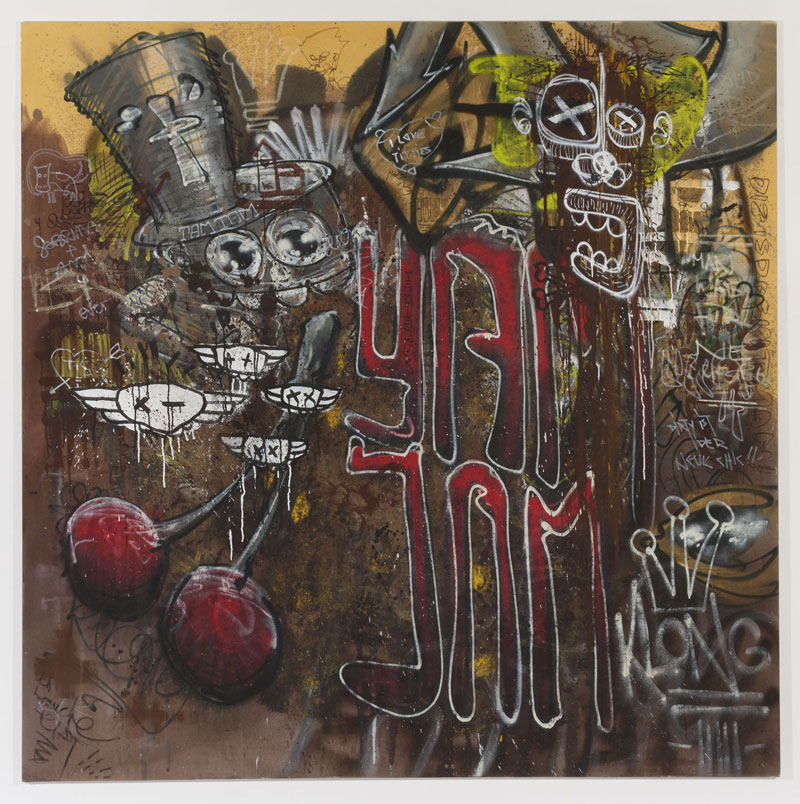 Yam Yam Kirsche - mixed media auf Leinwand - Sigurd Roscher 2014